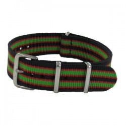 Bracelet Nato James Bond Noir/Rouge/Vert