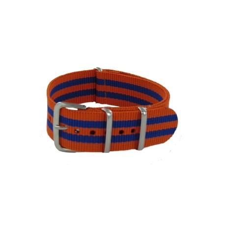Bracelet Nato James Bond Orange/Bleu