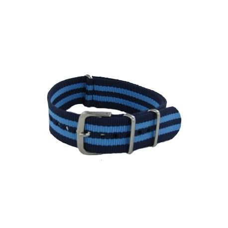 Bracelet Nato James Bond Bleu Marine/Bleu Ciel
