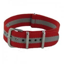 Bracelet Nato Rouge/Gris