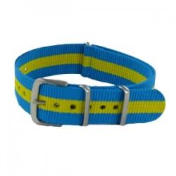 Bracelet Nato Turquoise/Jaune