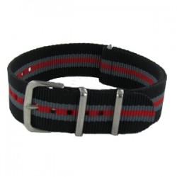 Black/Grey/Red Nato Strap