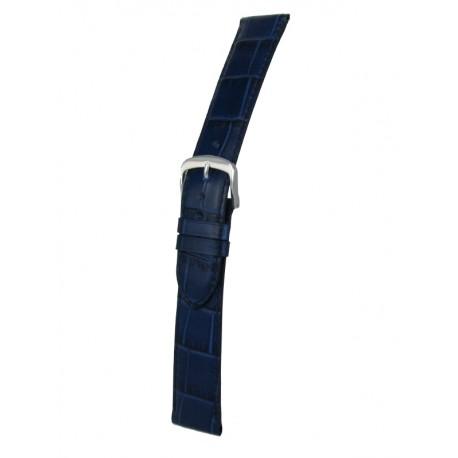 Navy Blue Flat Alligator Grain Watch Strap