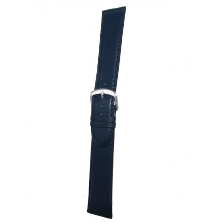 Bracelet Montre Extra Long Bleu Marine Vachette Plat