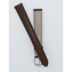 Brown Lady Leather Watch Strap - Flat