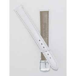 White Lady Leather Watch Strap - Flat
