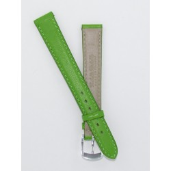Green Lady Leather Watch Strap - Flat