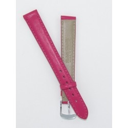 Pink Lady Leather Watch Strap - Flat