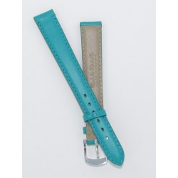 Turquoise Lady Leather Watch Strap - Flat
