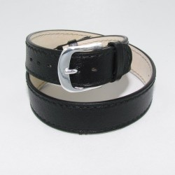 Black Double Wrap Leather Watch Strap