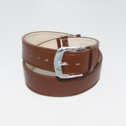 Brown Double Wrap Leather Watch Strap for Ladies