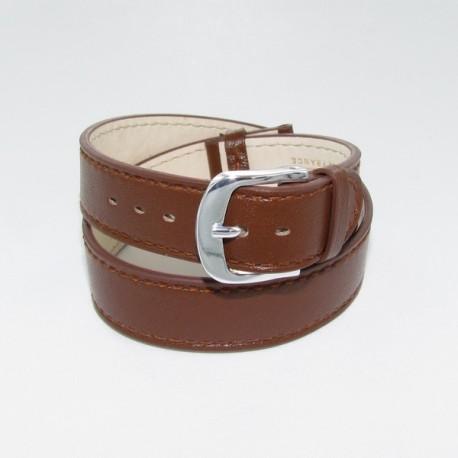 caractéristiques exceptionnelles nuances de sélectionner pour authentique Bracelet Montre Double Tour Cuir Marron Femme