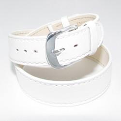 Bracelet Montre Double Tour Cuir Blanc Femme