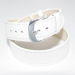 White Double Wrap Leather Watch Strap for Ladies