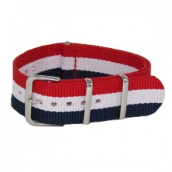 Bracelet Nato Bleu/Blanc/Rouge