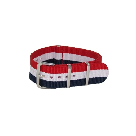 Blue/White/Red Nato Strap