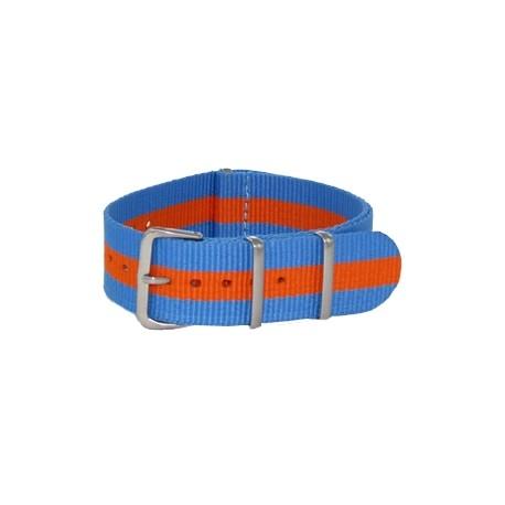 Sky Blue/Orange Nato Strap
