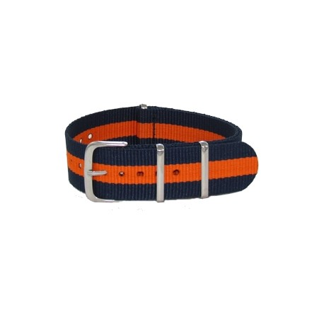 Navy Blue/Orange Nato Strap