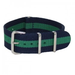 Bracelet Nato Bleu Marine/Vert