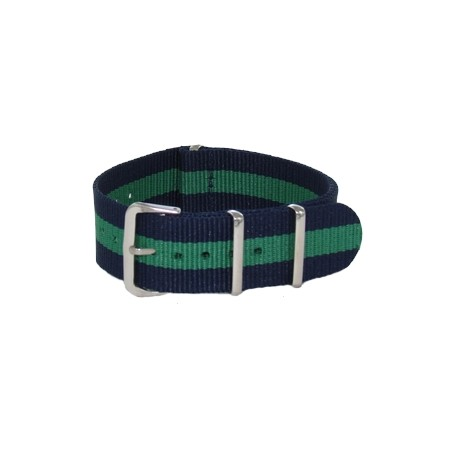 Navy Blue/Green Nato Strap