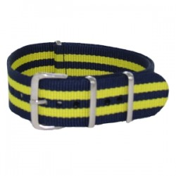 Nato James Bond Navy Blue/Yellow