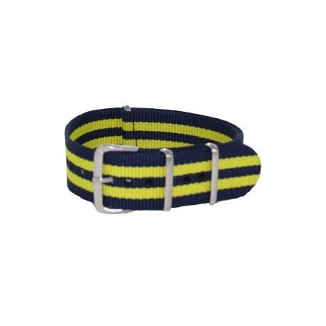 Nato James Bond Navy Blue/Yellow