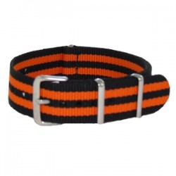 Bracelet Nato James Bond Noir/Orange
