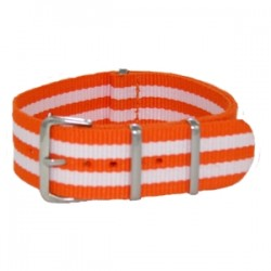 Bracelet Nato James Bond Orange/Blanc