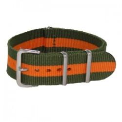 Bracelet Nato Kaki/Orange