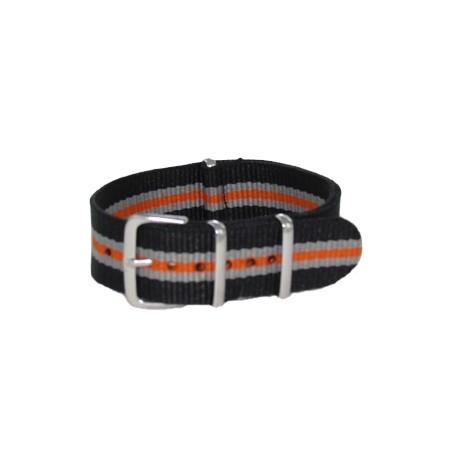 Black/Gray/Orange Nato Strap