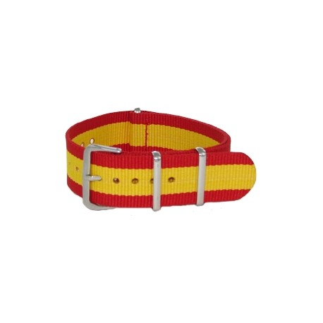Red and Yellow Nato Strap