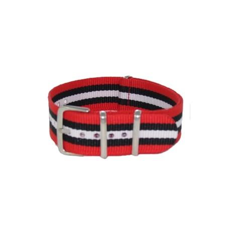 Red /Black/White Nato Strap