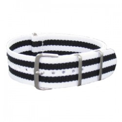 Bracelet Nato James Bond Blanc/Noir