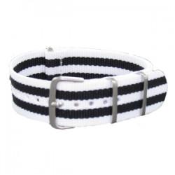 Bracelet Nato James Bond Blanc/Noir