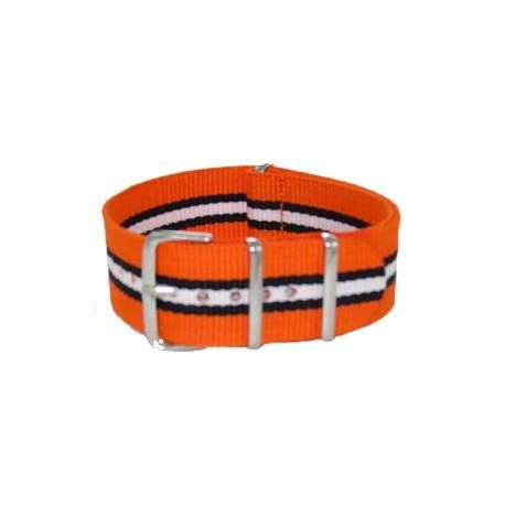 Orange/Black/White Nato Strap