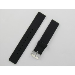Bracelet montre silicone noir plat