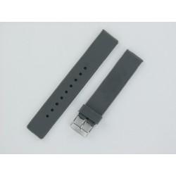 Bracelet montre silicone gris plat