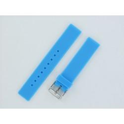 Bracelet Montre Silicone Bleu Clair Plat