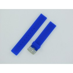 Bracelet Montre Silicone Bleu Electrique Plat
