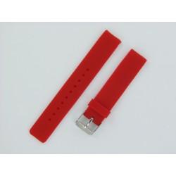 Bracelet Montre Silicone Rouge Plat