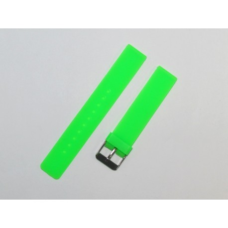 Green Flat Silicone Watch Strap