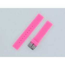 Bracelet Montre Silicone Rose Plat