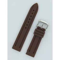 Bracelet Montre Silicone Marron Style Panerai