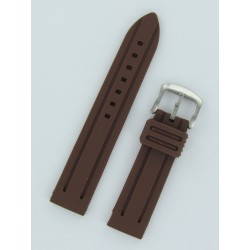 Brown Panerai Style Silicone Watch Strap