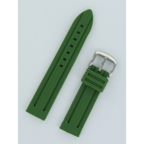 Army Green Panerai Style Silicone Watch Strap