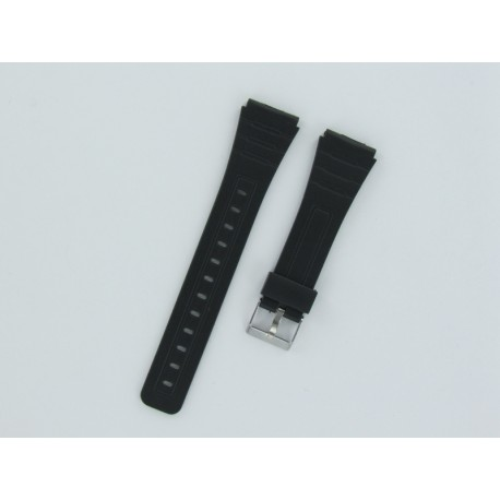 Black Silicone Watch Strap Casio Style