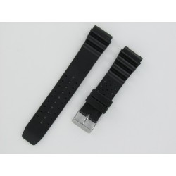 Black Silicone Diver Watch Strap