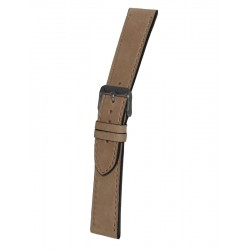 Beige Vintage Leather Watch Strap