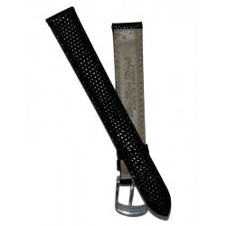 Black Lady Watch Strap Lizard Imitation