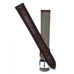 Brown Lady Watch Strap Lizard Imitation